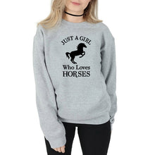 Load image into Gallery viewer, Country Love™️ Just A Girl Who Loves Horses Sweatshirt