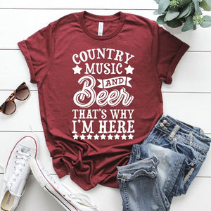 Country Love™️ Country Music and Beer That's Why I'm Here
