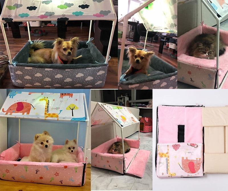 Removable Washable Home Shape Pet Bed Rent