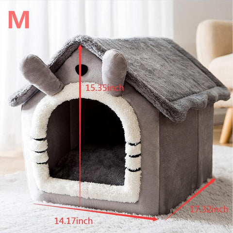 Removable Cat Bed House PetCat Tent House Cushion Sofa Bed