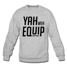 Load image into Gallery viewer, YAHWEH Equip Sweatshirt (Black Letters) Unisex Crewneck Sweatshirt | Gildan 18000 - Yah Equip Apparel
