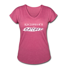Load image into Gallery viewer, Righteous & Ratchet Women's V-Neck Women's Tri-Blend V-Neck T-Shirt | TSC 6750VL - Yah Equip Apparel
