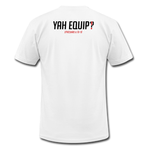 Y.E.A. Unisex White Tee Unisex Jersey T-Shirt | Bella + Canvas 3001 - Yah Equip Apparel