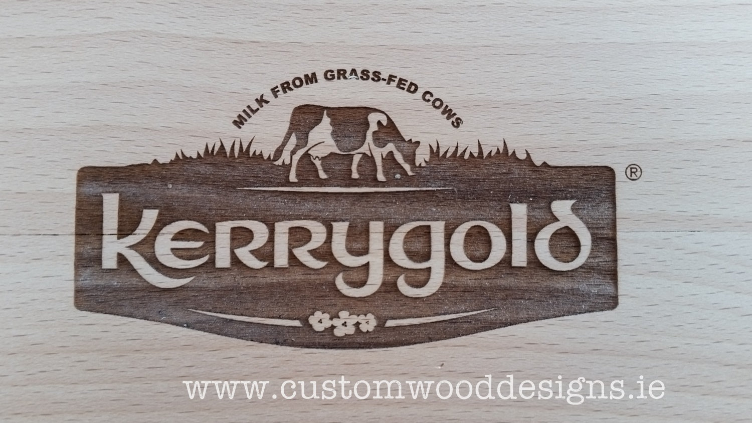 Kerry gold branding promotional laser engraving dublin sign maker logos Commercial furniture ireland joinery woodworking dubl;in uv printing custom made custom wood designs ie greenogue woodworking kitchen wood timber signage (8)