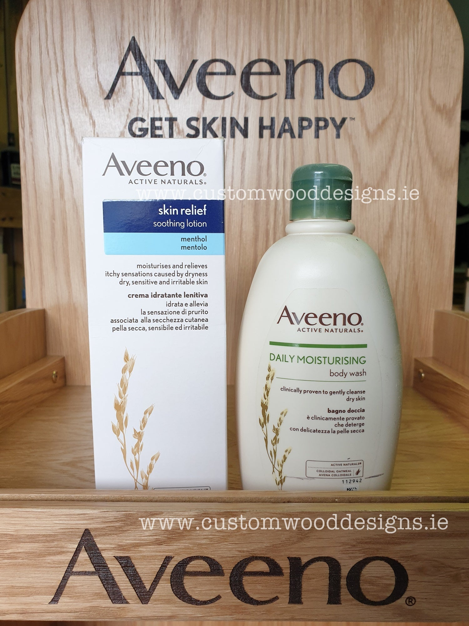 aveeno pharmacy product stand point of sale display irish manufacturer point od sale maker producer free standing unit display producer maker Ireland Dublin signs maker dublin beanding promotional product maker producer ireland dublin timber wooden festival stands the best sign amker ireland the best point of sale maker Dublin stuffing product wood promotional point of saele maker Dublin Ireland point of sale producer irish producer fsdu counter display units counter retail display specialists retail space display sepcialists retail wooden display shop wooden display maker manufacturer shop retail maker wood producer point of sale branded crates branded items