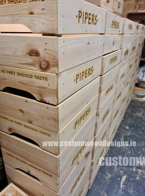 Pipers Crisps crates wholesale supplier custom wood designs Ireland Dublin manufacture wooden boxes crates retail display crates for retail box activation crates point of sale (18)