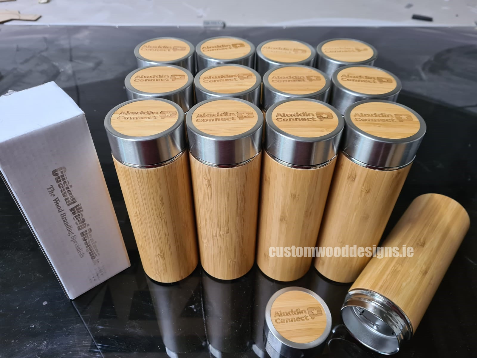 Bamboo cups ireland branded cups ireland sustainable gifys ireland wooden gifts Custom Wood Designs.ie