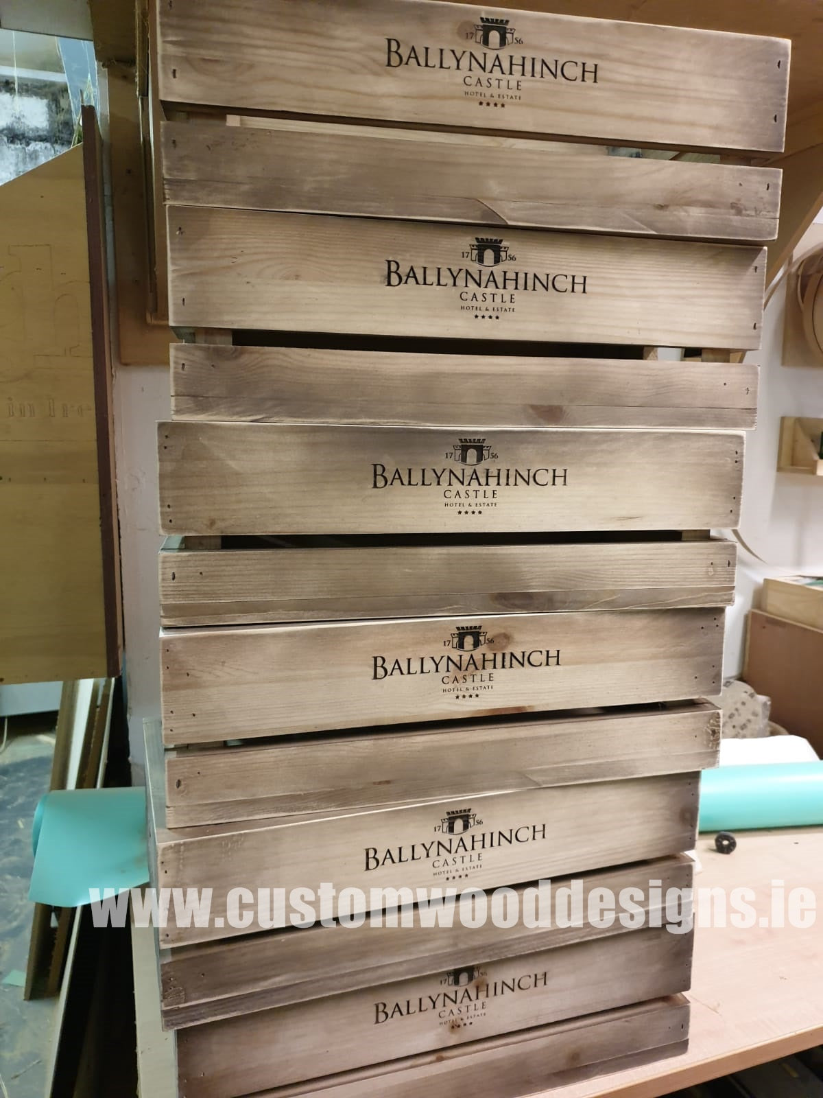Crates Custom Wood Designs Manufacturer Dublin Ireland wooden timber crates pouint of sale shoip retail display branded crates retail shop hotel product display custom wood designs laser engraving mass production