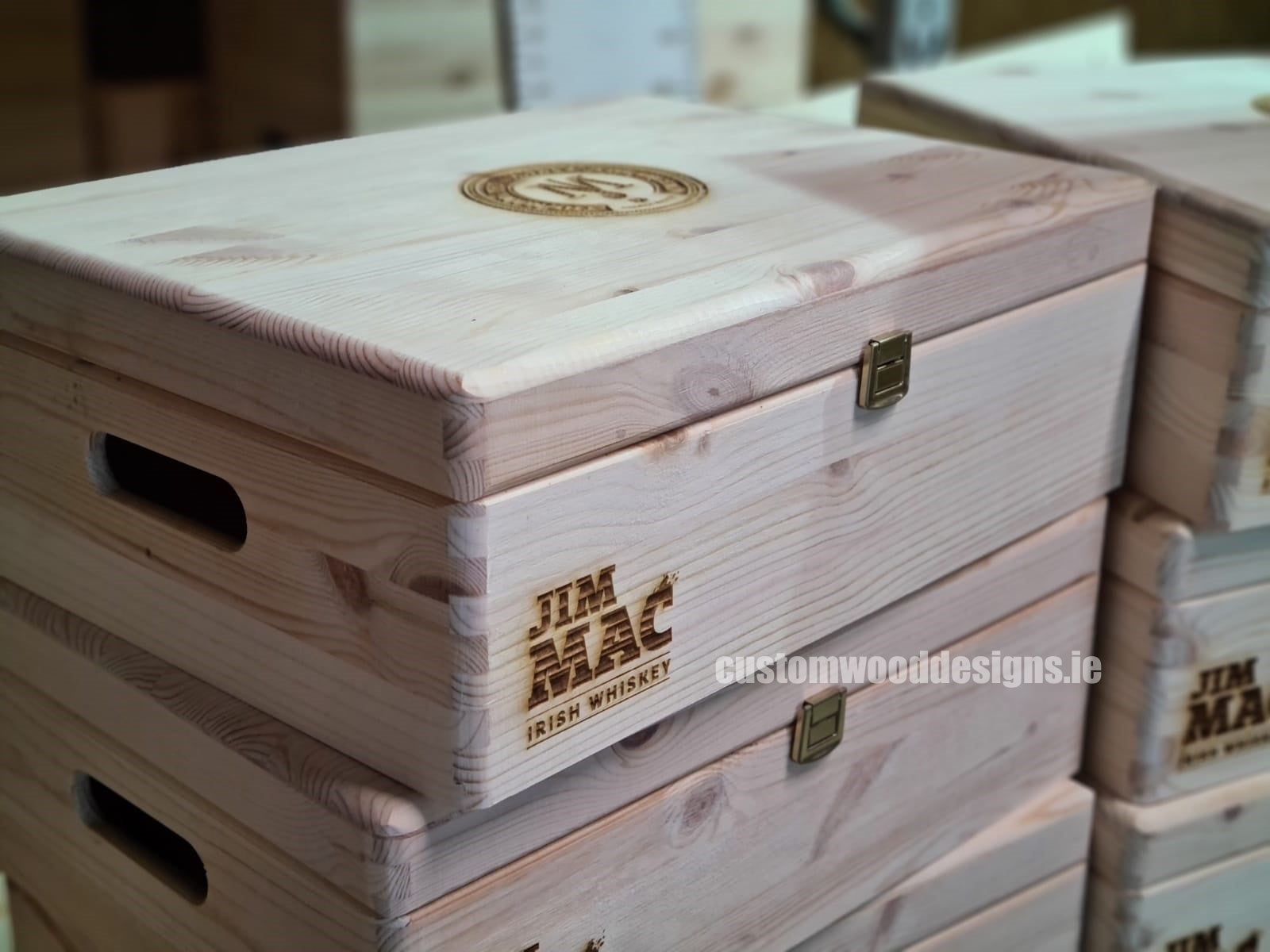 Branded wooden boxes Ireland corporate gift boxes display boxes SWAG Boxes ireland Company gifts eco gifts custo (4)