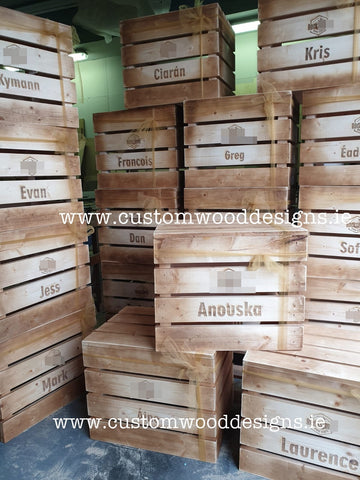 crates custom wood designs retail display crates display retail boxes old fashioned rustic brown crates white crates brandded crates dubklin crates irish crates vegetable shop crate box handle crates with dublin irealnd irish mass sproduced wholesale display retail strong crates branded laser engraved crates and boxes dublin irealnd