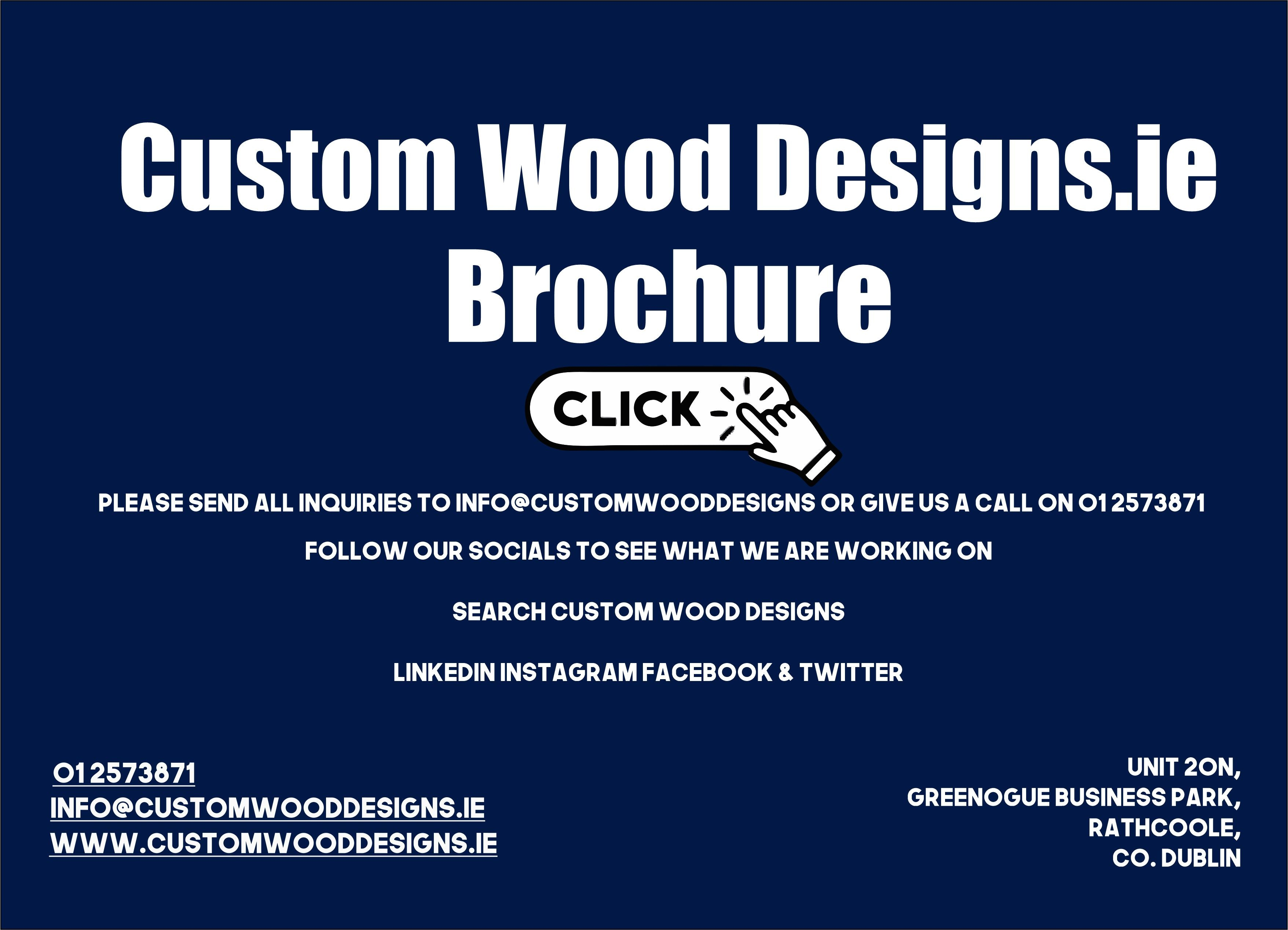 Custom Wood Designs Brochure 2021 Manufacturing branding and promotional