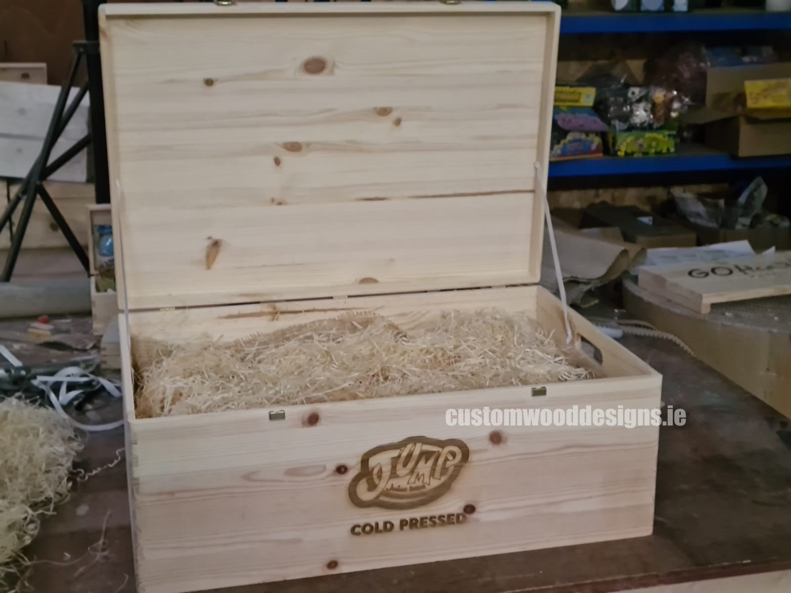branded boxes ireland wooden boxes ireland corporate boxes corporate gift boxes solid wooden bolxes engraved wooden boxes personalised boxes ireland custom wood designs Jump Juice