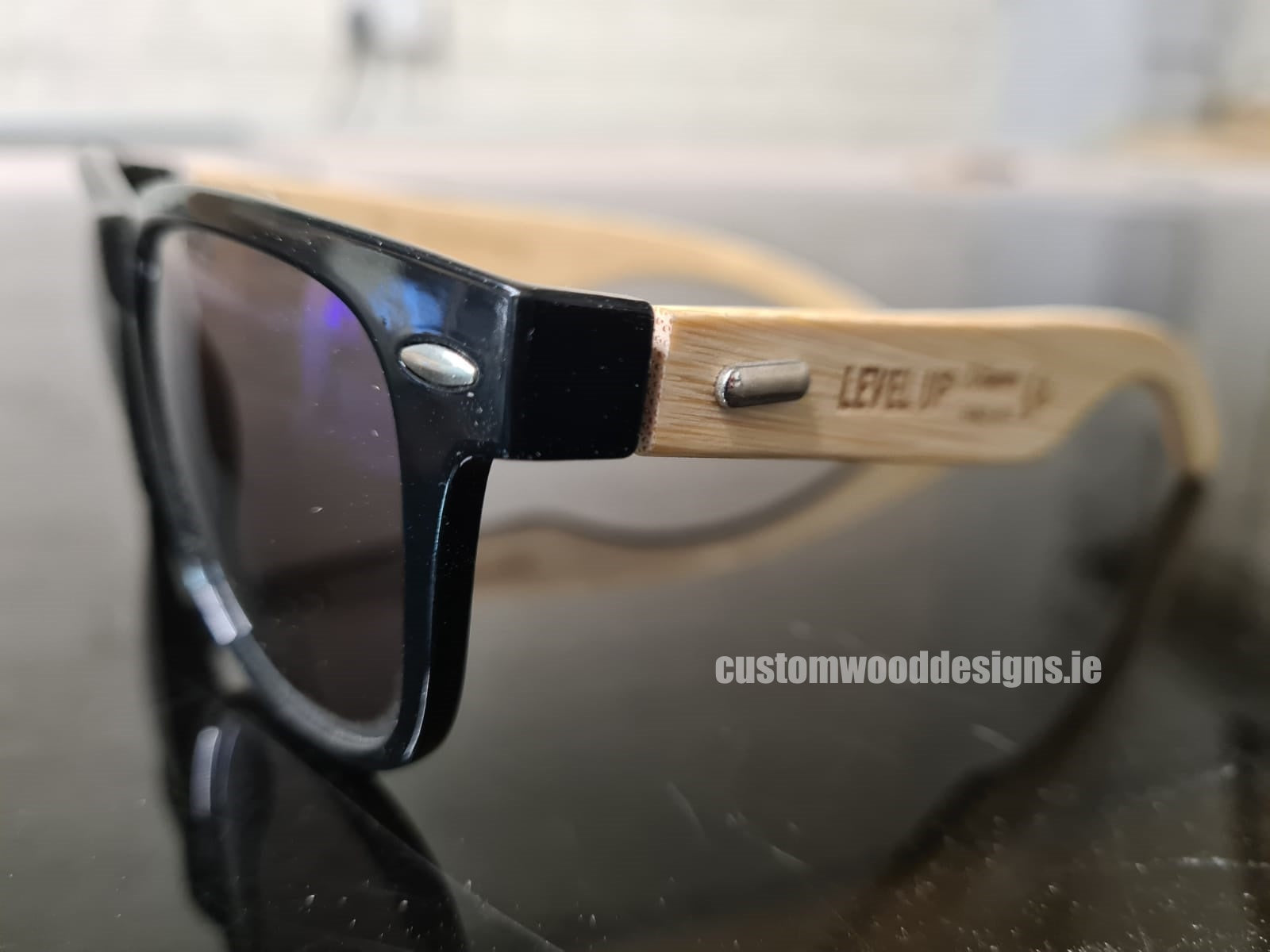 SWAG gifting ideas Corporate gifting ireland sustainable corporate gifts custom wood designs StrideXM wooden sunglasses