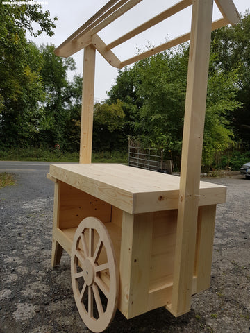 wooden cart maker mass produced custom wood designs ireland event prop