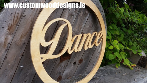 dance cut out word large custom wood designs branding design specialists events