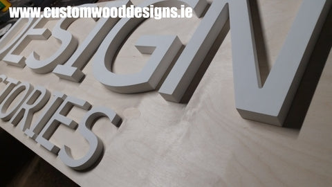 laser cut sign  shop retail signs cut out wooden lettering custom wood designs irealnd beautitul irish signs maker dublin ireland cut out solid timber