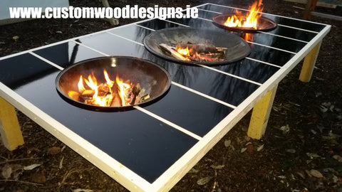 table fire pit table custom wood designs branding design specialists events
