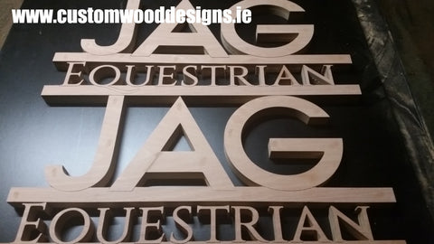 equestrian sign lettering cut lettering dublin irish horse signs sign  shop retail signs cut out wooden lettering custom wood designs irealnd beautitul irish signs maker dublin ireland cut out solid timber
