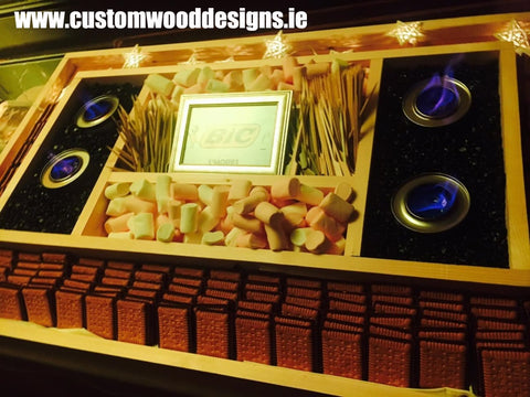 event table custom wood designs branding design specialists events