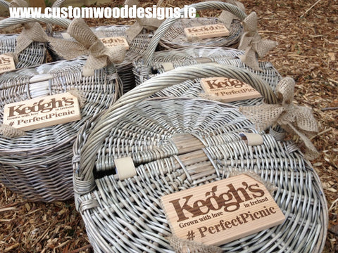 branding wooden tags wooden ornaments laser engraved plaques custom wood designs ireland keoghs crisps