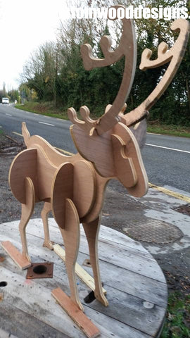 cut our raindeer itrealnd dublin props custom wood designs branding design specialists events