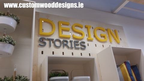 ikea carrigmines signage custom wood designs irealnd sigange specialists large sign maker eco fiendly signa sign  shop retail signs cut out wooden lettering custom wood designs irealnd beautitul irish signs maker dublin ireland cut out solid timber
