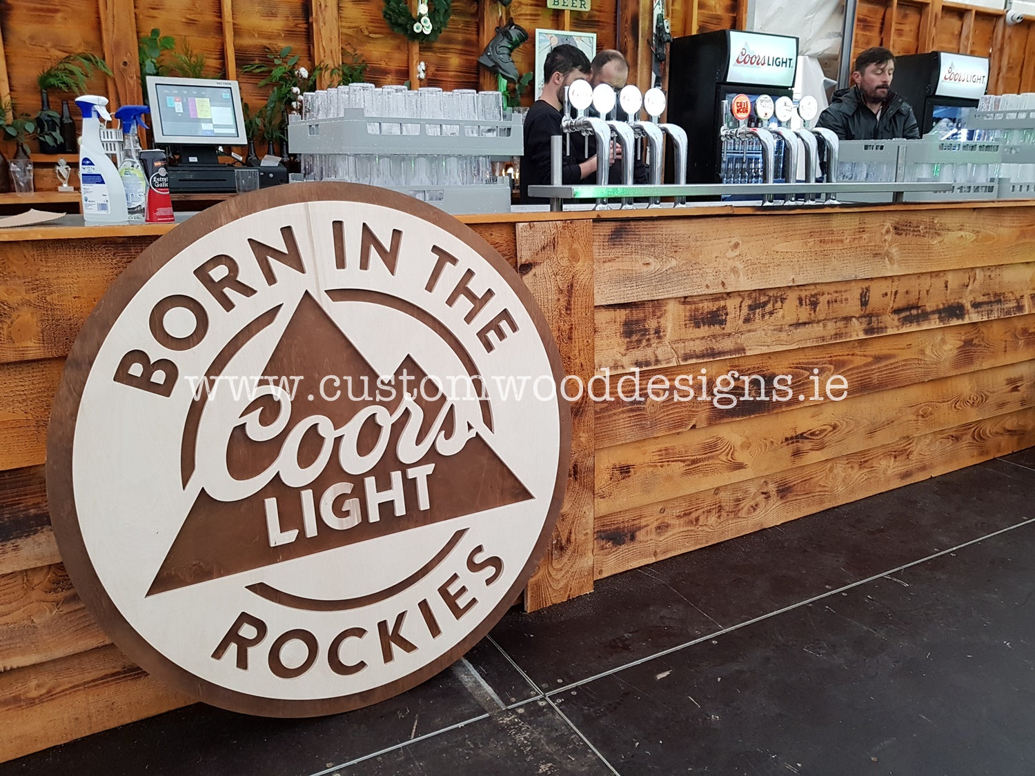 Cors light logo custom wood designs wooden signgs promotional brand activation company timber engraved cnc laser cut ireland irish business gary byrne custom wood  (4)