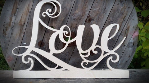 word love cut out lettering ebvent sogns home signs event signs sign  shop retail signs cut out wooden lettering custom wood designs irealnd beautitul irish signs maker dublin ireland cut out solid timber