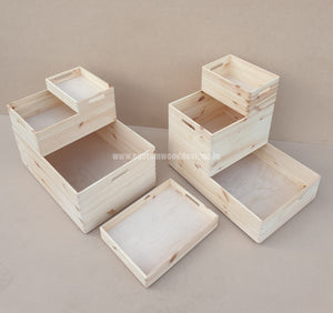 Set of Stackable Boxes - Custom Wood Designs