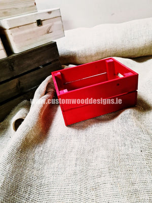 Small Crate Red SC Red  31 x 23 x 15 cm - Custom Wood Designs