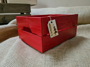 Small Crate Red SCT Red + Tag  31 x 23 x 15 cm - Custom Wood Designs