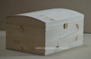Pine Wood Chest  CB5 35 X 25 X 18,5 cm - Custom Wood Designs