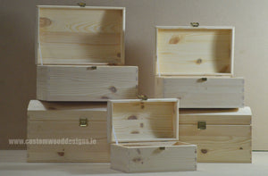 Set of Wooden Trunks - Custom Wood Designs