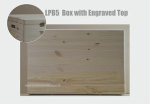 Personalised Pine Box with Lid Large LPB5 60 X 40 X 23cm - Custom Wood Designs