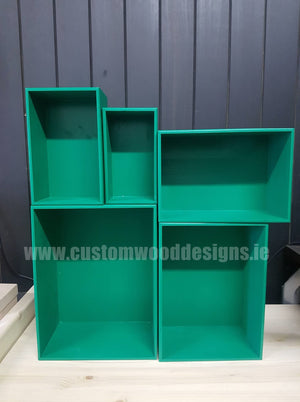 Wooden Boxes - Green - Custom Wood Designs