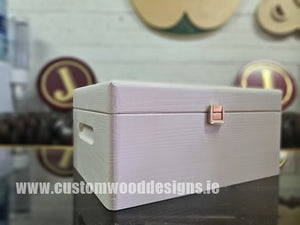 White Wood Box PHW3 29 X 21 X 14 cm - Custom Wood Designs