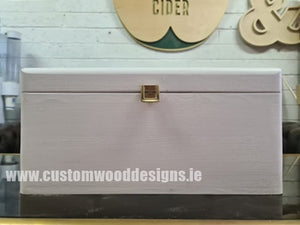 White Wood Box PHW5 37 X 28 X 18 cm - Custom Wood Designs