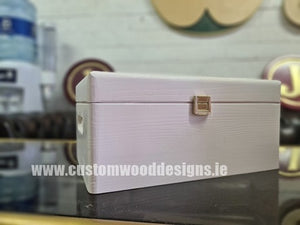 White Wood Box PHW4 33 X 25 X 15,5 cm - Custom Wood Designs