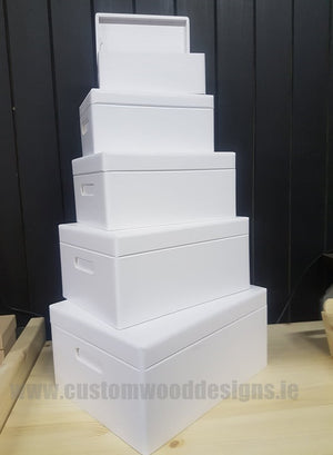 Wooden Boxes Hinged Lid - Various Sizes - Custom Wood Designs