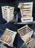 Wooden Dispenser Veg Style - Custom Wood Designs