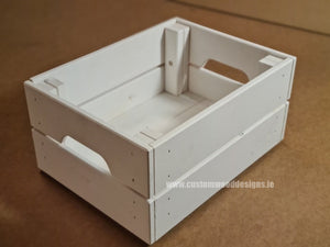 Small Crate SCW White 31 x 23 x 15 cm - Custom Wood Designs