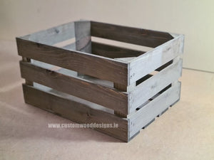Rough Rustic Crate Large 42 x 37 x 26 cm - Custom Wood Designs