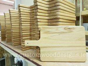 Service boards with handle 37.5 x 22 cm - Custom Wood Designs