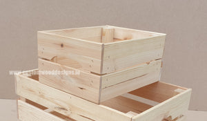 Small Crate SC 31 x 23 x 15 cm - Custom Wood Designs