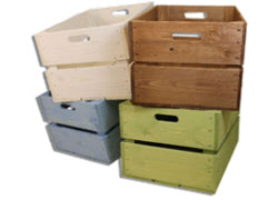 Rough Large Handle Crate Sage Green 52 x 37 x 29 cm - Custom Wood Designs