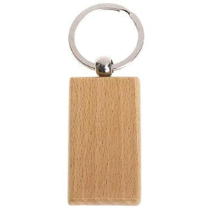 Key Ring Rectangle - Custom Wood Designs