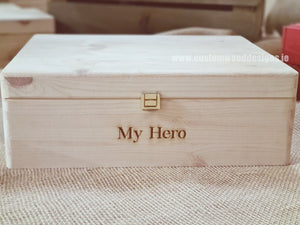 Box MPB2 with My Hero engraved - Custom Wood Designs