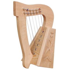 Harp O Carolan 6 Strings Lacewood Knotwork - Custom Wood Designs