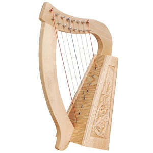 Harp 8 String O Carolan , Lacewood Celtic Dragon - Custom Wood Designs