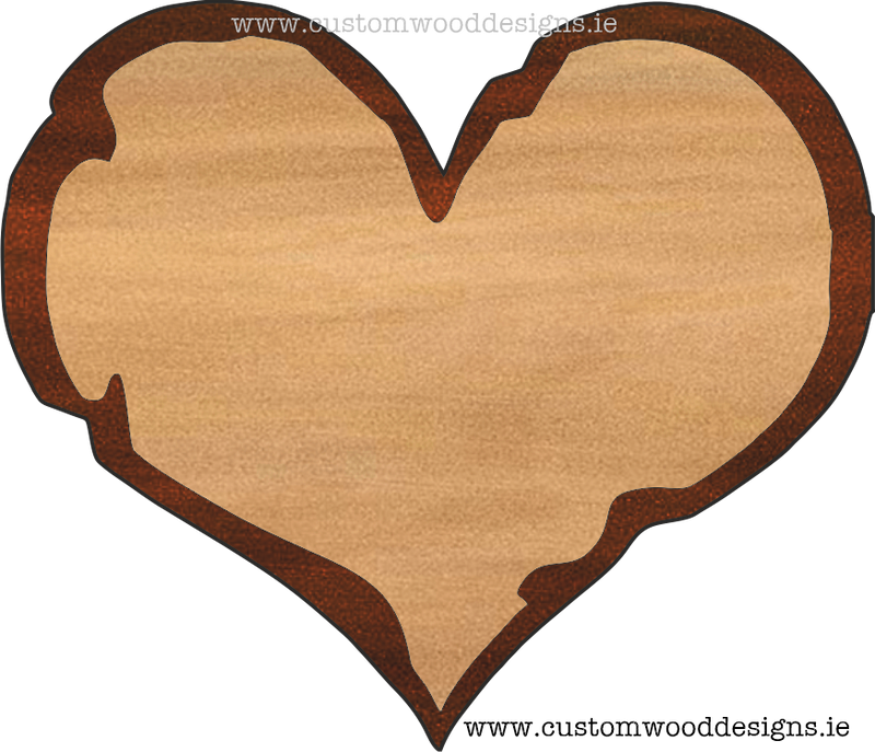 Rustic Heart Cedar Sign
